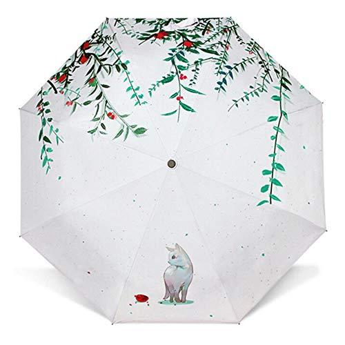 Llxxx Regenschirm-Taschenschirm Sonnenschutzbeschichteter Sonnenschirm, 1
