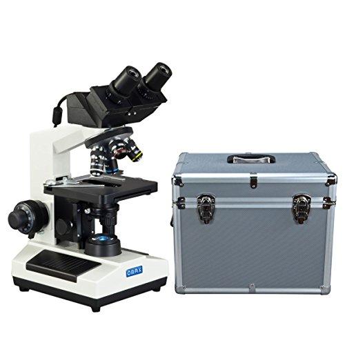 OMAX 40X-2000X Built-in 3.0MP Digital Camera Compound LED Binocular Microscope w Aluminum Carrying Case