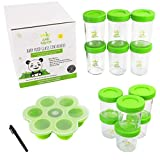 |Set de 12| tarros de cristal con tapa | recipientes de cristal para alimentos | Para almacenar comidas caseras para bebés | herméticas y reutilizables | ecológico | fáciles de llenar y limpiar