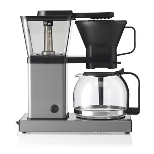 Trebs Cafetera de filtro 24110 – Cafetera con sistema de preparación directa – 10 tazas a 1 l de capacidad – Apagado automático – Sistema antigoteo – Diseño de aluminio – Aluminio/Negro