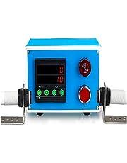 YJINGRUI - Contador digital LED con sensor fotoeléctrico infrarrojo dual con caja de montaje para cinta transportadora automática, 6 dígitos 0-9999999999, distancia de inducción 5 m