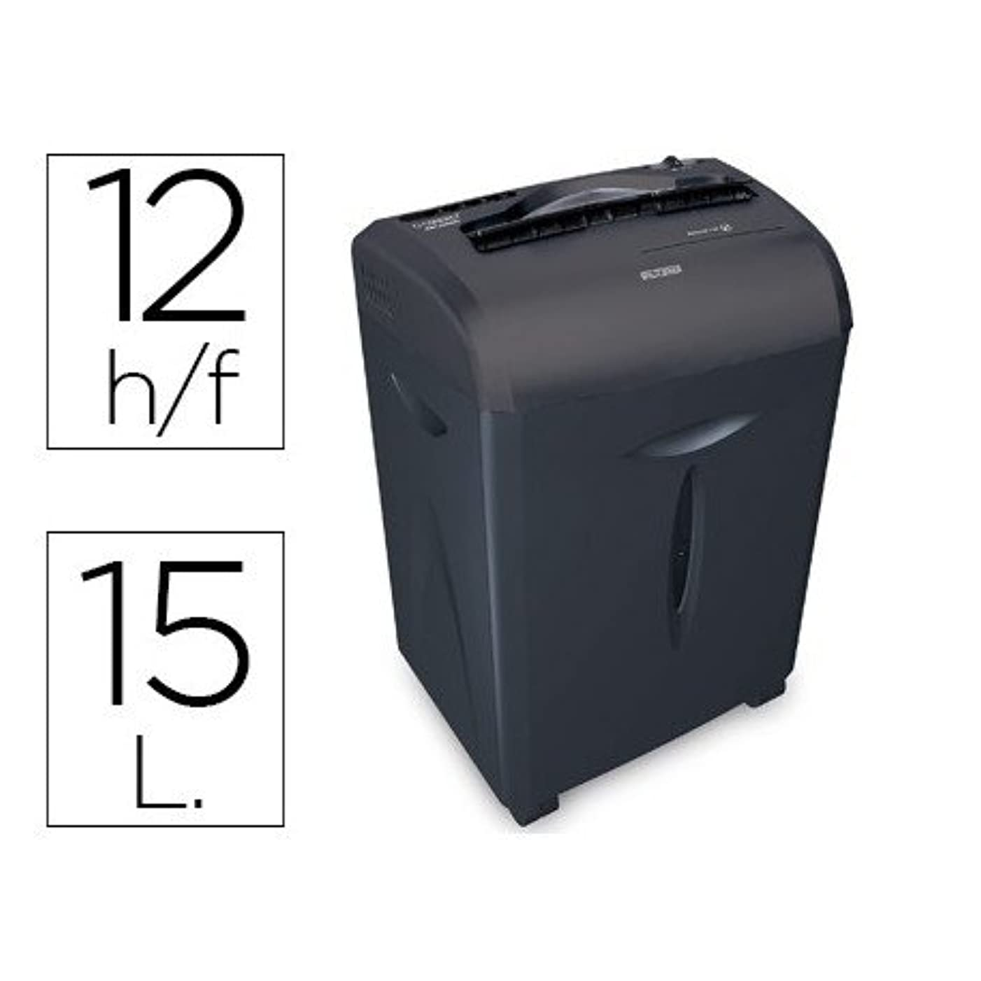 Q-Connect Document Shredder KF15551 Cutting Capacity 12 H Destroys Staples Clips CD and Cards