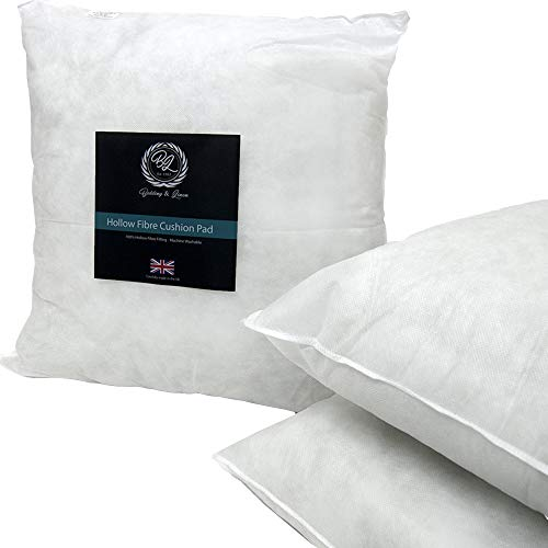 Nights Online Square Hollow Fibre Cushion Pads, Inners Fillers Inserts Multi-Pack 4, 17' x 17' (43cm x 43cm)