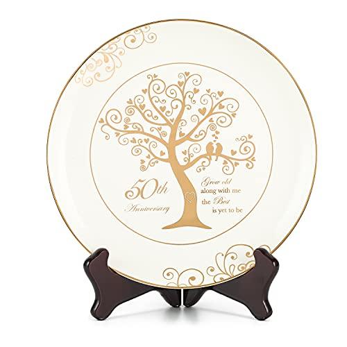 Urllinz 50th Anniversary Plates-50th Anniversary Wedding Gifts for...