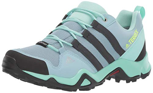 adidas outdoor Kids' Terrex AX2R CP Hiking Shoe Boot, ash Grey/Carbon/Clear Mint, 2 Child US Big Kid