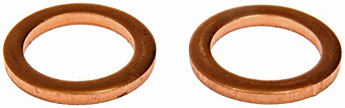 Dorman 095-010CD Copper Drain Plug Gasket, Fits .5 D.O, 9/16, M14 S.O. for Select American Motors/Ford/Mercedes-Benz Models, 2 Pack