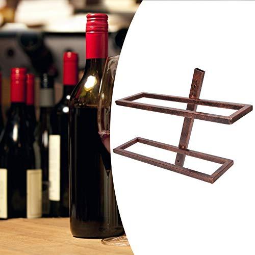BOLORAMO Soporte para Vino, botellero de Pared, botellero de Estilo Moderno para Bodega, Pasillo o baño(Inclined Wine Rack 2 Bottles of Bronze)