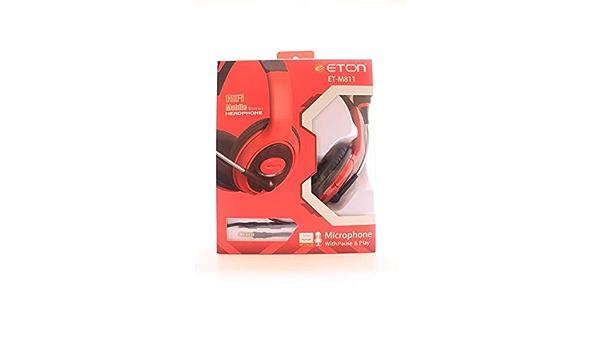 EE8F Telefon Headset Rot Kopfhörer Metall Mic In-Ear