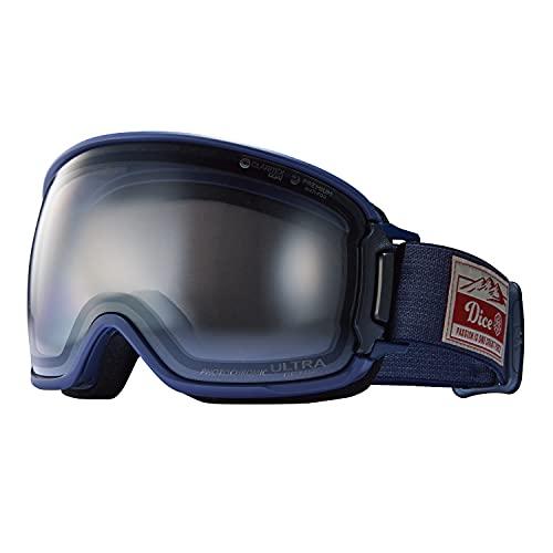 DICE (ダイス) スノーゴーグル BANK バンク BK14570 NAV ライトシルバーミラー×ULTRAライトグレイ調光 日本製 スキー スノーボード