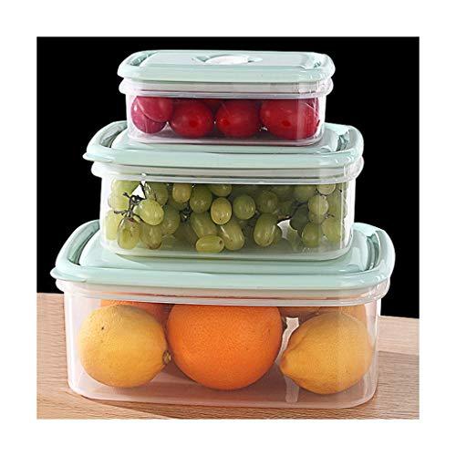 QFF Aufbewahrungsbox küche Lebensmittel verschlossenen Vorratsbehälter Müsli Candy Hundefutter Kühlschrank Lunchbox Transparente Obst-Box frischhaltedose (Color : A)