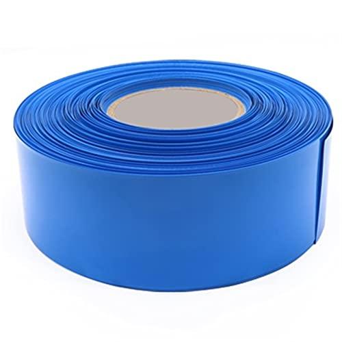 PYouo krympslang 18650 LIPO batteri PVC värmekrympslang förpackning, 85 mm ~ 350 mm bred, isolerad film, wrap litiumfodral, kabelhylsa, blå skyddssats