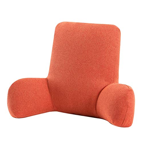 XXT Waist Pad Office Sedentary Memory Cotton Beautiful Hip Pad Waist Pad Office Waist Cushion (Color : Orange, Size : W58cm)