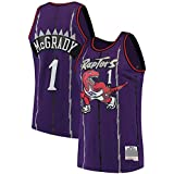 XSJY Camiseta De Baloncesto NBA Toronto Raptors # 1 McGrady, Camisetas Retro Bordadas De Tela Transpirable Fresca, Uniforme De Fanático De Baloncesto Unisex,A,L:175~180cm/75~85kg