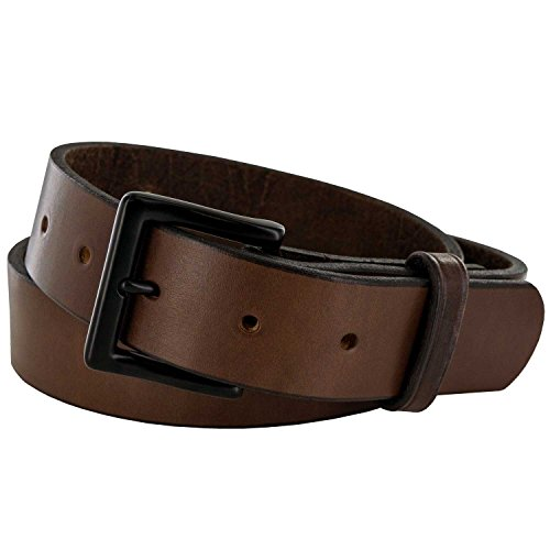 Hanks Everyday -'No Break' Thick Leather Belt - Mens Heavy Duty Belts- USA Made -100 Year Warranty