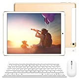 Tablet PC 10 inch 4G WIFI Tablet Computer with Keyboard Android 8.1 - 3GB RAM, 32GB Storage Dual SIM Quad Core IPS HD Screen Bluetooth WIFI GPS Google Play Keyboards and Mouse included