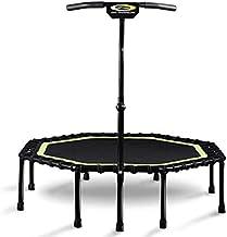 Opvouwbare trampoline, fitness rebounder oefenen trampoline met handvat bar, 48 inch indoor trampoline met leuning verstel...