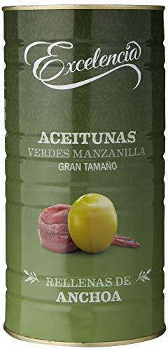 Excelencia - Olive Verdi Manzanilla-Ripiene di Alici - misura grande - 1400 g