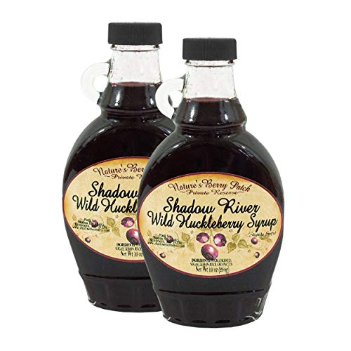 Shadow River Wild Huckleberry Gourmet Berry Syrup With Real Fruit Pieces, 10 oz Jar - Pack of 2