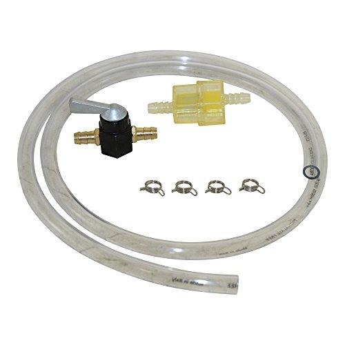 8mm Kraftstoff Leitung Set Benzin Schlauch Hahn Filter Klammer für Moped Mofa Roller Hercules Kreidler Zündapp Puch