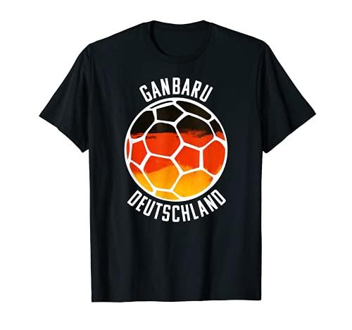 Deutschland Schwarz Rot Gold - Handballer Fan Trikot T-Shirt
