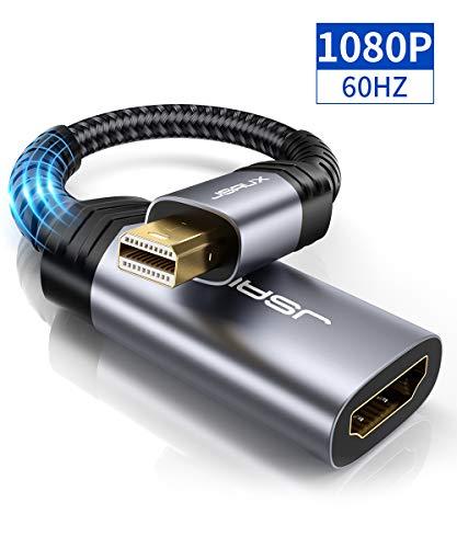 JSAUX Mini DisplayPort auf HDMI Adapter 1080P @ 60Hz Mini DP (Thunderbolt) Stecker zu Hdmi Buchse Konverter für MacBook Air/Pro,iMac,Mac Mini,Microsoft Surface Pro 3/4, Lenovo Thinkpad usw - Grau