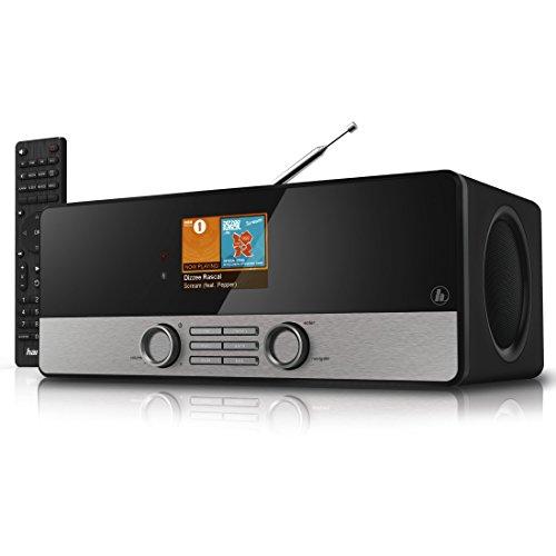 """Hama Internetradio Digitalradio DIR3100MS (Streaming, Spotify, WLAN/LAN/DAB+/FM, 2,8\"""" Farbdisplay, USB, Weck- und Wifi-Streamingfunktion, Multiroom, Fernbedienung, gratis Radio App) schwarz"""