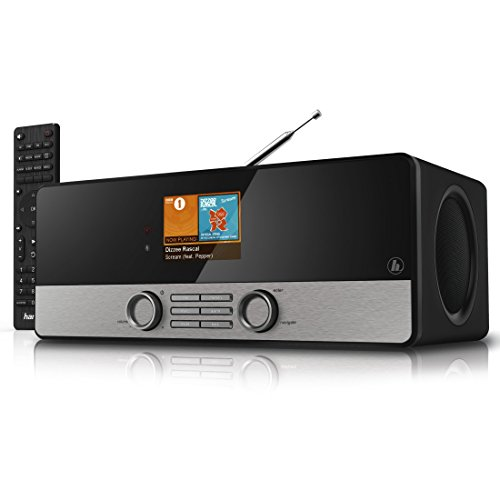 "Hama Internetradio Digitalradio DIR3100MS (Spotify, WLAN/LAN/DAB+/FM, 2,8"" Farbdisplay, USB, Weck- und Wifi-Streamingfunktion, Multiroom, Fernbedienung, gratis Radio App) schwarz"