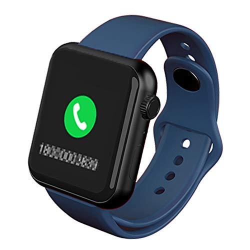 Wsaman Fitness Tracker Pulsómetro Impermeable IP67 Monitor de Sueño Podómetro Contador Notificación, Pulsera Actividad con Pantalla Táctil para Monitor de Fitness,Azul