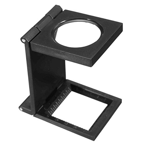 CoCocina 10X 28mm Mini Microscope Folding Magnifier Loupe with Scale