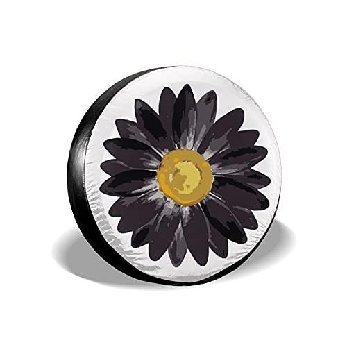 Daisy Flower - Cubierta de repuesto para neumáticos, impermeable, a prueba de polvo, UV, para Jeep, remolque, RV, SUV y muchos vehículos de 17 pulgadas