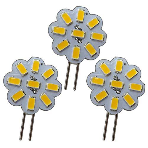 3x G4 Mini LED 2W Watt 12V AC/DC 9x5630 SMD dimmbar 120° rund Strahler Spot Energiesparlampe Halogenersatz A++ PB-Versand® (2 Watt - 3000K)