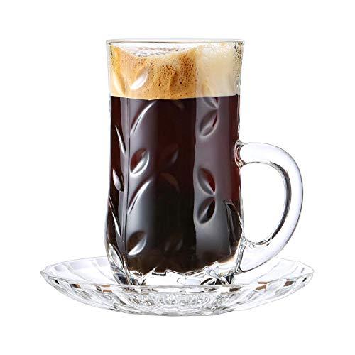 Glaseres - Taza de café expreso europeo de cristal - Modelo creativo europeo