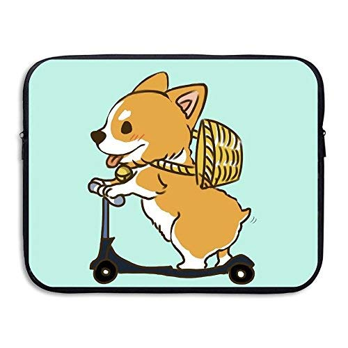Waterproof MacBook Air Pro Case Funny Corgi Laptop Sleeve Bag Cover for All Computer Ultrabook Notebook