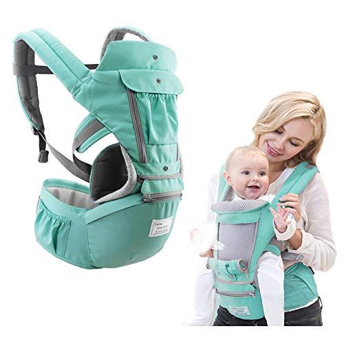 Friendlyer 3 In 1 Babytrage Für Neugeborene(3.2 Bis 20kg) Babytragetuch Kindertragetuch Babybauchtrage Sling Tragetuch Für Baby, Ergonomische Babytragetasche, Bauchtrage Und Rückentrage,Green