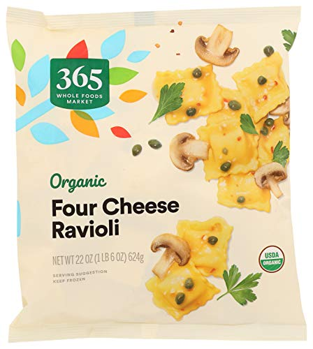 365 by Whole Foods Market, Frozen Organic Ravioli, Four Cheese, 22 Ounce