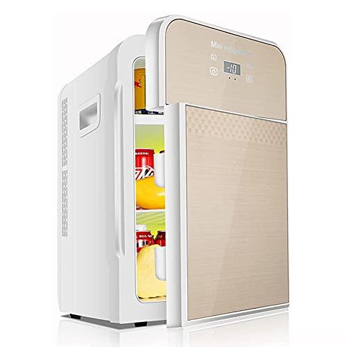 DKBE Nevera portátil para coche de 22 litros – Mini nevera doméstica silenciosa, nevera compacta para bebidas, nevera para el cuidado de la piel, modo de calentamiento y modo