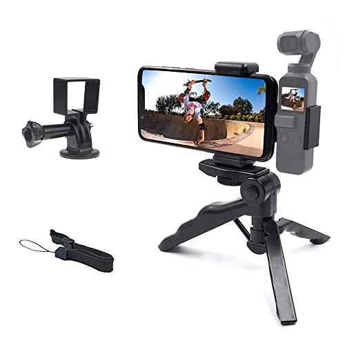 micros2u 2-in-1 tragbares Vlogging Stativ mit Pistolengriff und Adapter, kompatibel mit DJI Osmo Pocket. Kombinieren Sie die Osmo mit Ihrem Handy oder verwenden Sie nur die Osmo Pocket