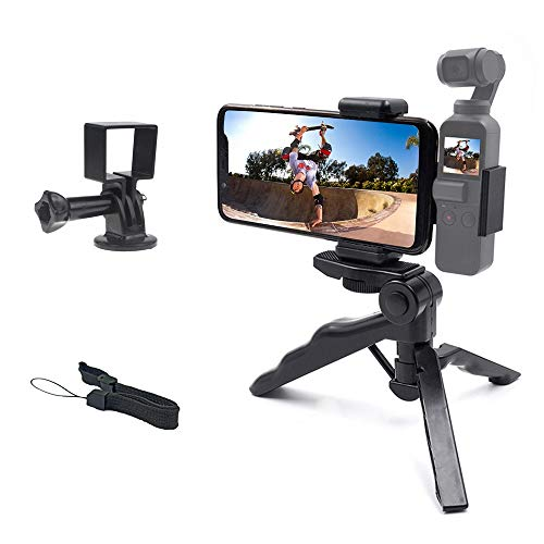 micros2u Trípode y Mango tipo Pistola 2-en-1 Compatible con DJI Osmo Pocket y Action. Para Vlogging o vídeo. Combina tu Osmo y el soporte de teléfono móvil o úsalo solo con Osmo Pocket