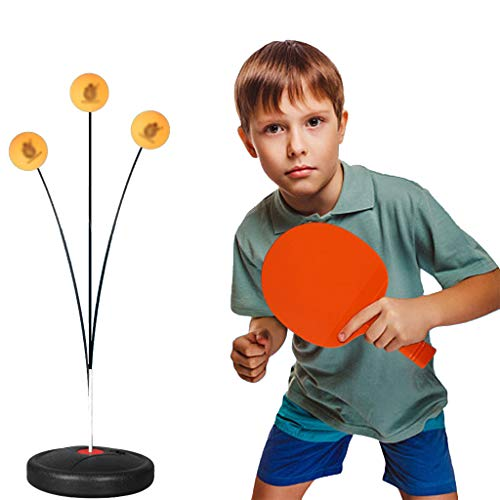 Best Bargain ADKINC Table Tennis Trainer, with Elastic Soft Shaft, Leisure Decompression Sports, Hap...
