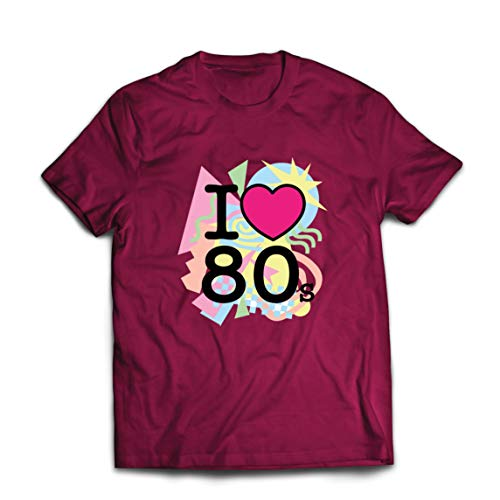 """lepni.me - Camiseta para hombre con texto en inglés """"I Love 80s Old School Band Concierto"""""""