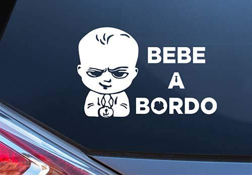 Pegatina Vinilo Bebe Jefazo a Bordo, Baby Boss on Board, Varios Tamaños