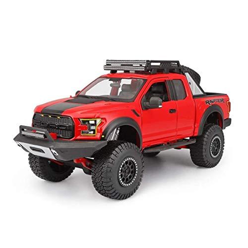 Modelo de coche Ford F150 Raptor Modelo 1,18 Escala modelo Die Casting modelo de aleación modelo estático modelo de colección de joyas de regalo (color, azul), Red ( Color : Red , Size : One size )