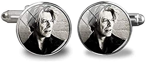 Manschettenknöpfe David Bowie Silber