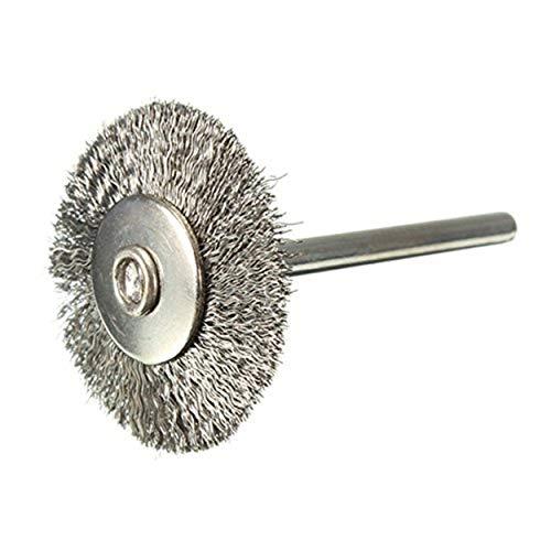 EsportsMJJ 25mm Staal Wiel Borstel Voor Dremel Die Grinder Rotary Tool