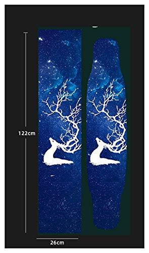 YWF Monopatín Cinta de Agarre de monopatín, 52x26cm Gripe Chaptapes, Anti-Slid Graphic Deck Protective, Tablero de Bricolaje, Scooter Skateboard Deck Griptape para niños, Adultos. (Color : D)