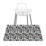 Dinosaur Drawing Splash Mat - A Waterproof Catch-All for Highchair Spills and More!