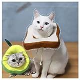 Tangger 2 PCS Lindo Collar Isabelino Gato Morbido,Suave Ajustable Collar Protector para Mascotas Collar Recuperación Cuello Blando,Diámetro del Cuello 19 cm y 22 cm