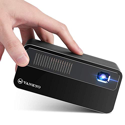 VANKYO DLP ミニプロジェクター 300ANSI 高輝度 Android7.1システム搭載 ワイヤレス接続 2.4G/5G WIFI 対応 4Pデータ台形補正 Bluetooth4.0 外付けスピーカー対応可能 16G大容量 卓上三脚台 日本語取扱説明書付き G300 (黒)
