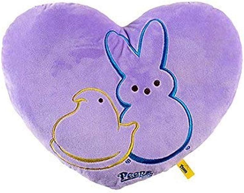 Peeps Heart Shaped Pillow Lavender