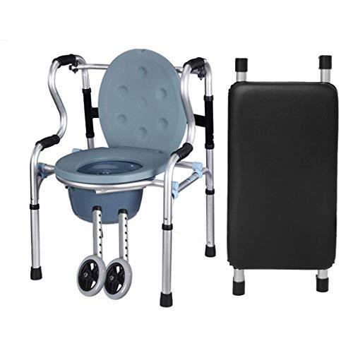 N/Z Home Equipment Stehende Rehabilitation Toilettensitz mit Gehhilfe WC-Umlenkrolle Mit Sitzlehne Armlehne Badekrücke